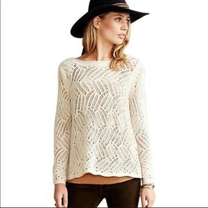 Anthro Angel of the North Amanecer Pullover Cream